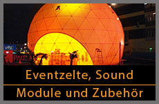 Eventzelte, Sound, Eventmodule
